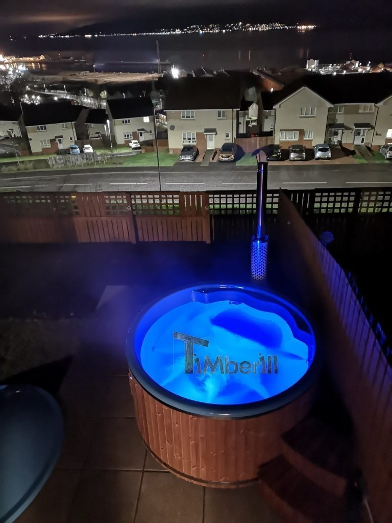 Wellness Royal thermo wood hot tub Jamie Greenock U.K 2